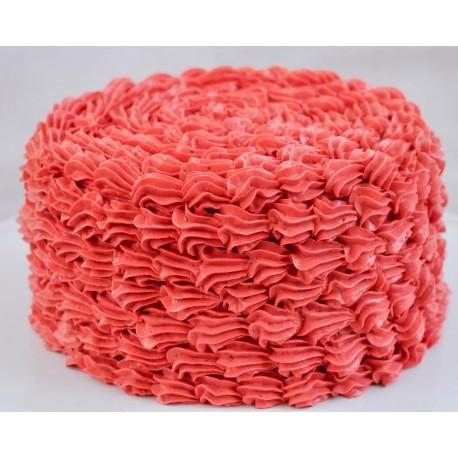 Strawberry Ruffle Cake