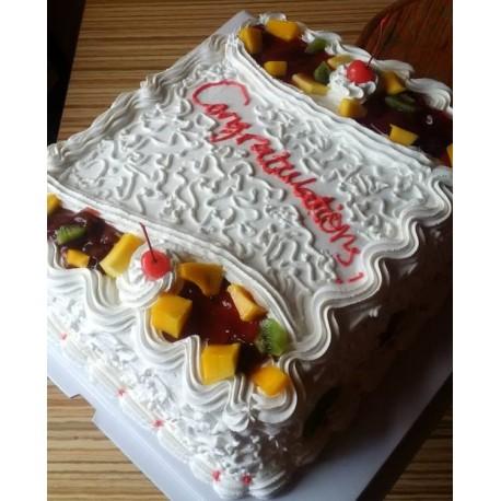 Cake N Fruits (14 x12 inch)