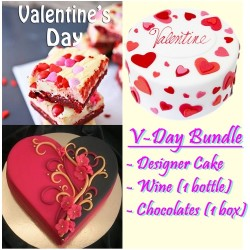 Awesome V-Day Bundle (14x12 cake)
