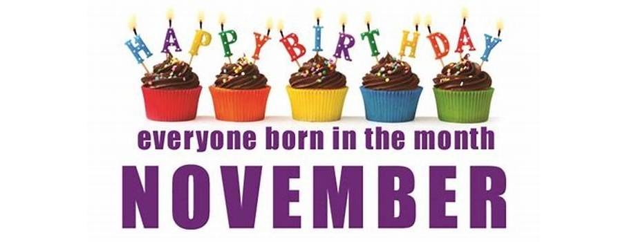 November Birthday's